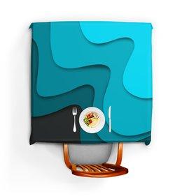 """Скатерть квадратная """"Волнистый"""" - узор, стиль, абстракция, абстрактный, волнистый"""