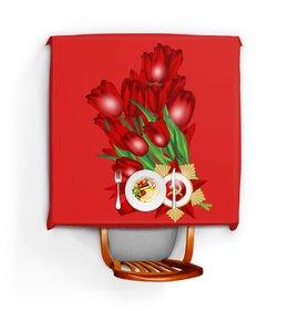 """Скатерть квадратная """"9 мая"""" - праздник, цветы, 9 мая, день победы, орден"""