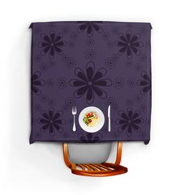 """Скатерть квадратная """"Фиолетовая"""" - цветы, узор, рисунок, фиолетовый, цветочный"""