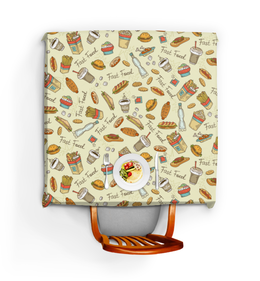 "Скатерть квадратная ""Фастфуд"" - еда, картошка, гамбургер, фастфуд"