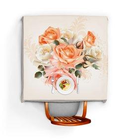 """Скатерть квадратная """"Чайная роза"""" - розы, цветы"""