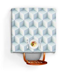 """Скатерть квадратная """"Кубическая иллюзия"""" - абстракция, квадратный, фон, иллюзия, кубизм"""