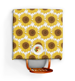 "Скатерть квадратная ""Sunflower"" - flower, sun, yellow, pattern, sunflower"