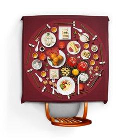 """Скатерть квадратная """"САМОБРАНКА"""" - еда, арт дизайн, сервировка, питание, стиль эксклюзив креатив красота яркость"""