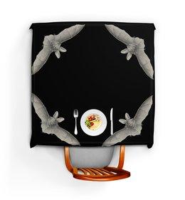 """Скатерть квадратная """"Летучая мышь, Эрнст Геккель"""" - хэллоуин, хеллоуин, летучие мыши, красота форм в природе, эрнст геккель"""