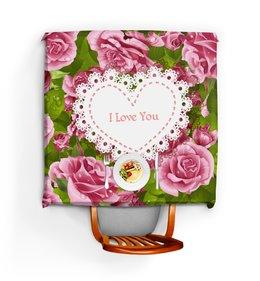 """Скатерть квадратная """"Любовь"""" - любовь, цветы, 8 марта, розы, день св валентина"""