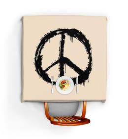 """Скатерть квадратная """"Хиппи"""" - любовь, мир, дом, peace, хиппи"""