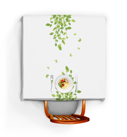 """Скатерть квадратная """"Лето. Summer"""" - бабочки, лето, листья, дизайн, графика"""