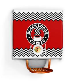 "Скатерть квадратная ""Твин Пикс. Black Lodge Coffee"" - twin peaks, твин пикс, дэвид линч, агент купер, black lodge coffee"