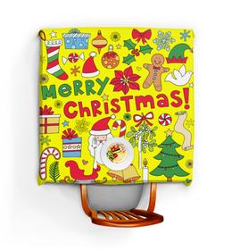 """Скатерть квадратная """"Дед мороз"""" - новый год, елка, дед мороз"""