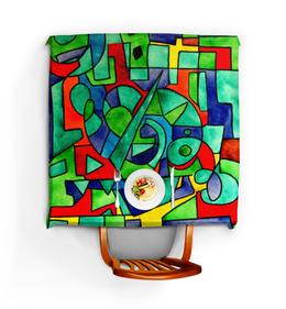 """Скатерть квадратная """"3VVU-;JJ87"""" - арт, узор, абстракция, фигуры, текстура"""