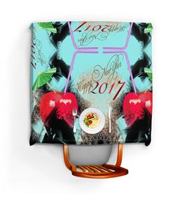 """Скатерть квадратная """"Яблочный микс"""" - новый год, абстракция, яблоко, натюрморт, новогодний костюм"""
