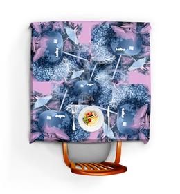 """Скатерть квадратная """"Яблочный микс"""" - фрукты, напиток, абстракция, яблоко, натюрморт"""