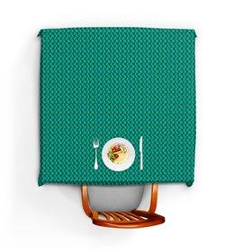 """Скатерть квадратная """"Зеленый орнамент для кухни"""" - узор, орнамент, растения, этнический, пейсли"""