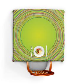 """Скатерть квадратная """"Лужайка"""" - узор, рисунок, абстракция, круги, абстрактный"""