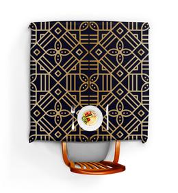 """Скатерть квадратная """"Цветочное золото"""" - орнамент, этнический, мандала, узор"""