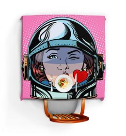 """Скатерть квадратная """"Kiss Girl"""" - девушка, girl, дизайн, графика, иллюстрация"""