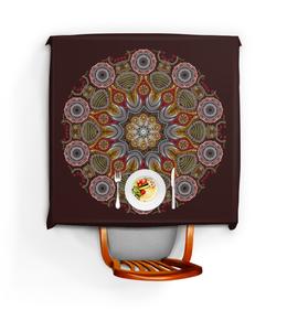 """Скатерть квадратная """"Индийские кружева"""" - узоры, рисунок, мандала, символы, индуизм"""