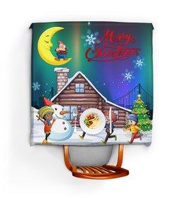 """Скатерть квадратная """"РОЖДЕСТВЕНСКАЯ НОЧЬ"""" - новый год, рождество, стиль эксклюзив креатив красота яркость, арт фэнтези"""