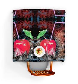 """Скатерть квадратная """"Яблочный микс"""" - напиток, абстракция, яблоко, фрукт, натюрморт"""