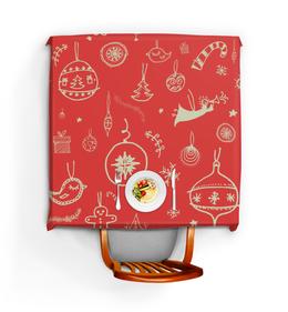 """Скатерть квадратная """"Новогодняя"""" - новый год, рисунок, рождество, игрушка, рождественский"""