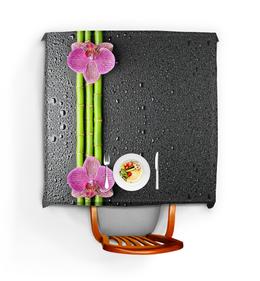 """Скатерть квадратная """"Черные капли"""" - цветы, 8 марта, дружба, орхидея, капли"""