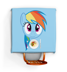 "Скатерть квадратная ""My Little Pony Rainbowdash"" - арт, my little pony, rainbowdash"