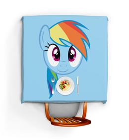 "Скатерть квадратная ""My Little Pony Rainbowdash"" - арт, my little pony, rainbowdash"