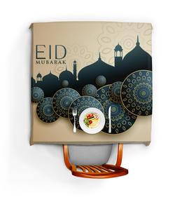 """Скатерть квадратная """"Ид-Мубарак"""" - поздравление, праздничный, исламский, ид-мубарак, курбан-байрам"""