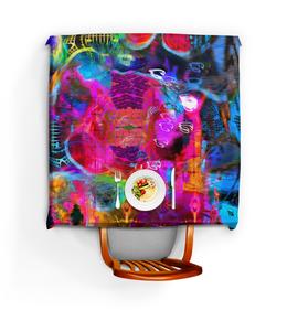 """Скатерть квадратная """"Abstract Raster 372"""" - цветной, эмоция, яркий, свет, абстрактный"""
