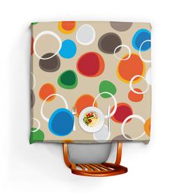 """Скатерть квадратная """"Цветная абстракция"""" - узор, стиль, рисунок, абстракция, абстрактный"""