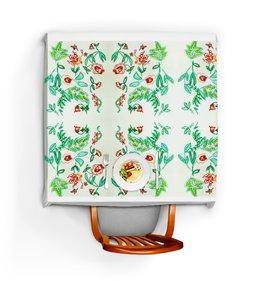 """Скатерть квадратная """"Дикие цветы"""" - лето, цветы, счастье, красные цветы"""