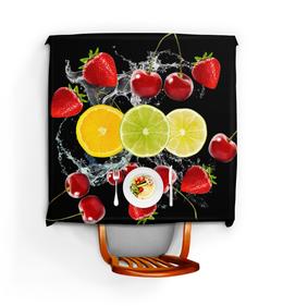 """Скатерть квадратная """"Ягоды"""" - арт, ягоды, клубника, вишня, лимон"""