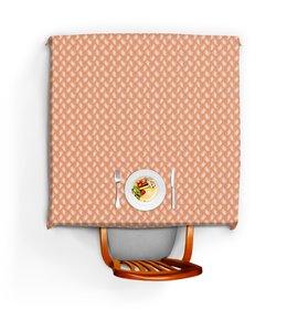 """Скатерть квадратная """"Розовый орнамент для кухни"""" - узор, орнамент, растения, индийский, пейсли"""