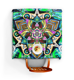 "Скатерть квадратная ""Mandala HD 4"" - узор, ретро, классика, этно, симметрия"