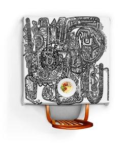 """Скатерть квадратная """"Петрушкин Лабиринт"""" - арт, узор, абстракция, фигуры, текстура"""