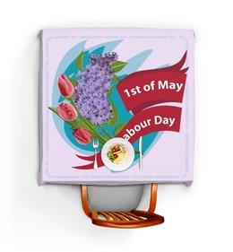 """Скатерть квадратная """"1 мая"""" - праздник, цветы, 1 мая, весна, день труда"""