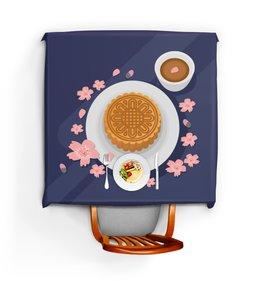 """Скатерть квадратная """"Лунный пирог"""" - цветы, подарок, чай"""