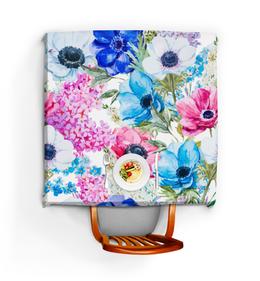"""Скатерть квадратная """"Фиалки"""" - красиво, цветы, ярко, природа, фиалки"""