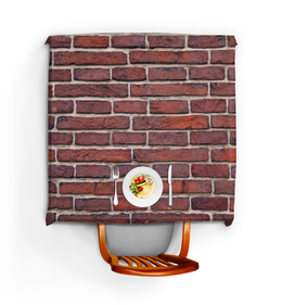 """Скатерть квадратная """"Кирпичная кладка"""" - арт, дизайн, камень, кирпичная стена, киприч"""
