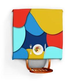 """Скатерть квадратная """"Разноцветная"""" - разноцветный, стиль, рисунок, узор, абстрактный"""
