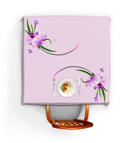 """Скатерть квадратная """"Для мамы"""" - день матери, 8 марта, маме, орхидея, цветы"""
