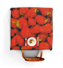 """Скатерть квадратная """"Клубника"""" - клубника, ягода, ван гог, стилизация, живопись"""
