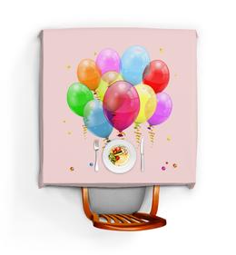 """Скатерть квадратная """"С Праздником!"""" - день рождения, праздник, шарики, поздравляю, праздники"""