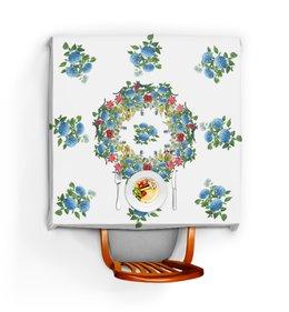 """Скатерть квадратная """"Цветочный букет"""" - цветы, лето, растения"""