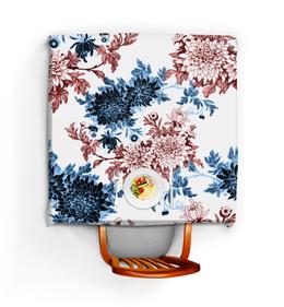 """Скатерть квадратная """"Хризантемы"""" - красиво, цветы, хризантемы"""
