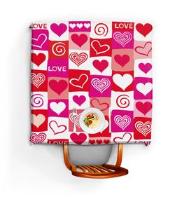"""Скатерть квадратная """"Любовь!"""" - сердце, любовь, день святого валентина, 14 февраля, день влюбленных"""