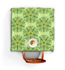 """Скатерть квадратная """"Цветочный калейдоскоп"""" - узор, стиль, рисунок, орнамент, цветочный"""
