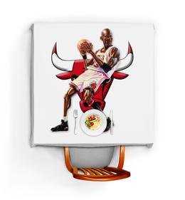"""Скатерть квадратная """"Michael Jordan Cartooney"""" - 23, чикаго, бык, chicago bulls, джордан"""
