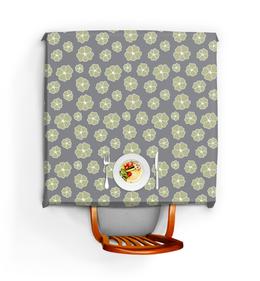 """Скатерть квадратная """"Цветы на сером"""" - уют, тепло, кухня, стильно, этно"""